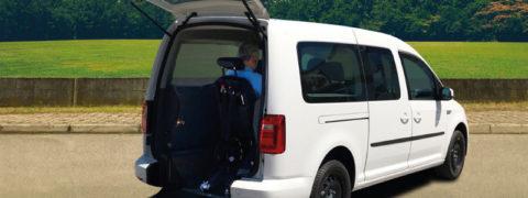 Nuevo Caddy Maxi PMR GNC: primer vehículo a gas adaptado para movilidad reducida.